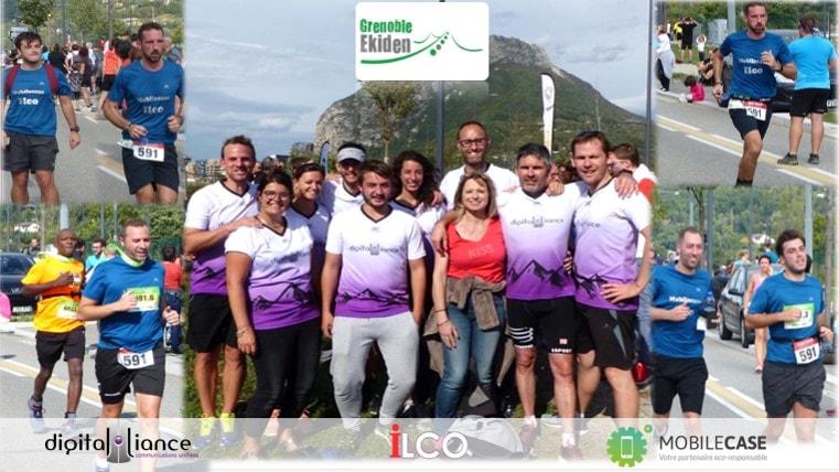 Le groupe Ilco participe à l'Ekiden Grenoble 2019